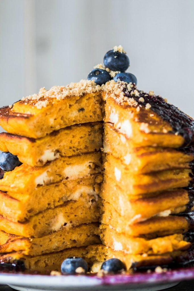 Pumpkin Cheesecake Pancakes Recipe - We