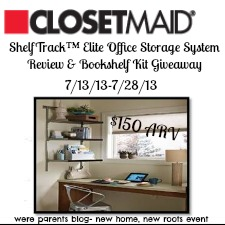 To Win: Weu0027re Parents And Closetmaid Are Giving One Lucky Reader The Chance  To Win The ShelfTrack Elite Bookshelf Kit And Two Fabric Bins (a $178 ARV).