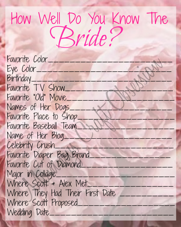 She said yes diy printable bridal shower games we39re for Games to play at wedding shower