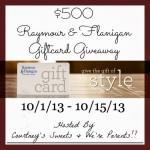 Raymour & Flanigan $500 Giftcard Giveaway!