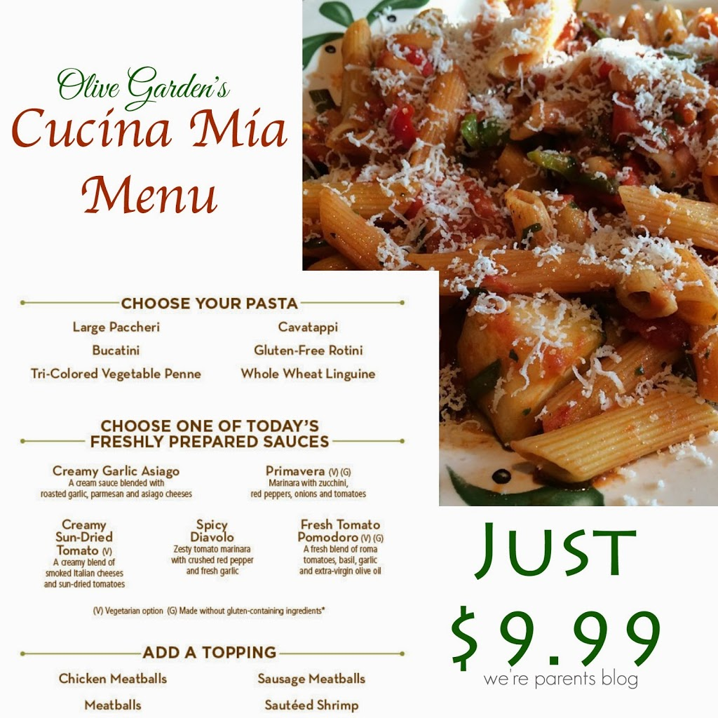 Olive garden launches new menu we 39 re parents - Gluten free menu at olive garden ...