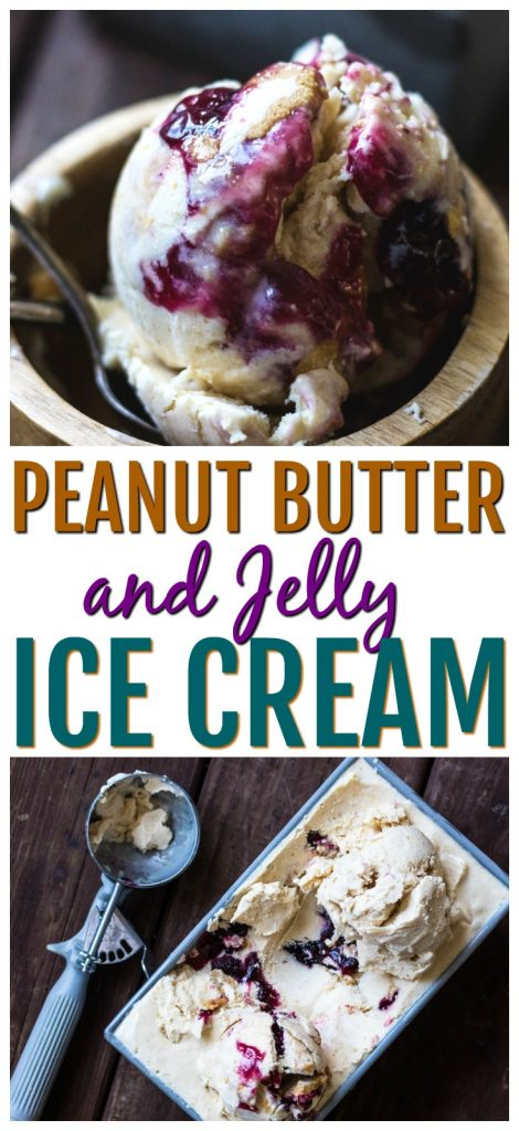 how do you make peanut butter and jelly ice cream
