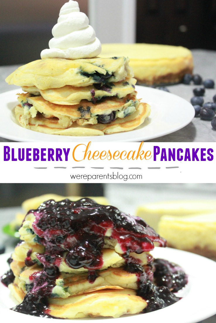 Blueberry Cheesecake Pancakes Recipe — Dishmaps