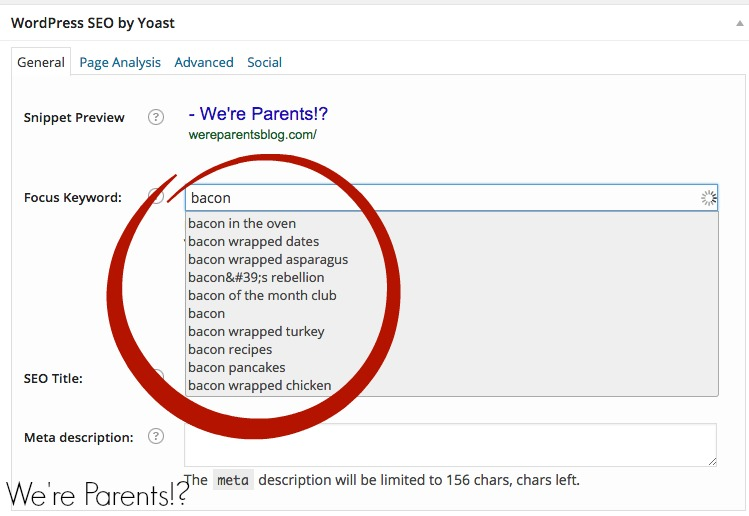 how to use keyword planner in Yoast