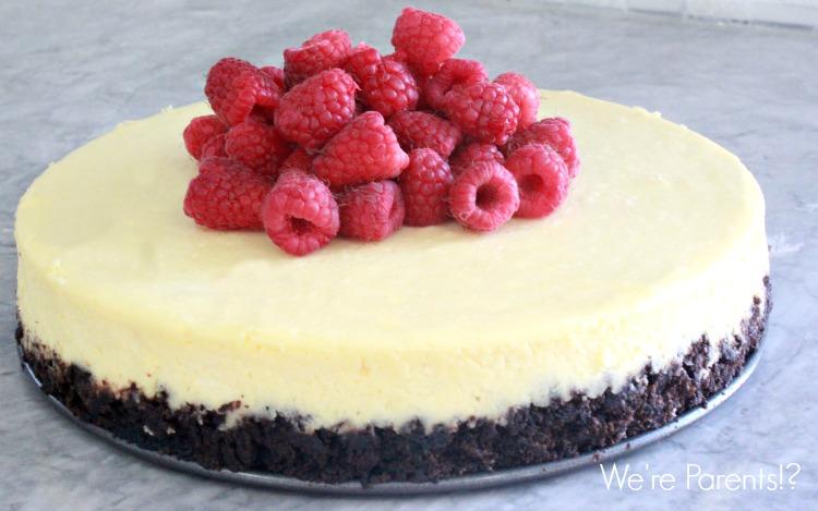 white chocolate cheesecake recipe with raspberries
