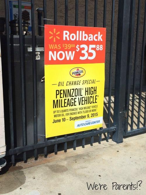 pennzoil oil change rollback
