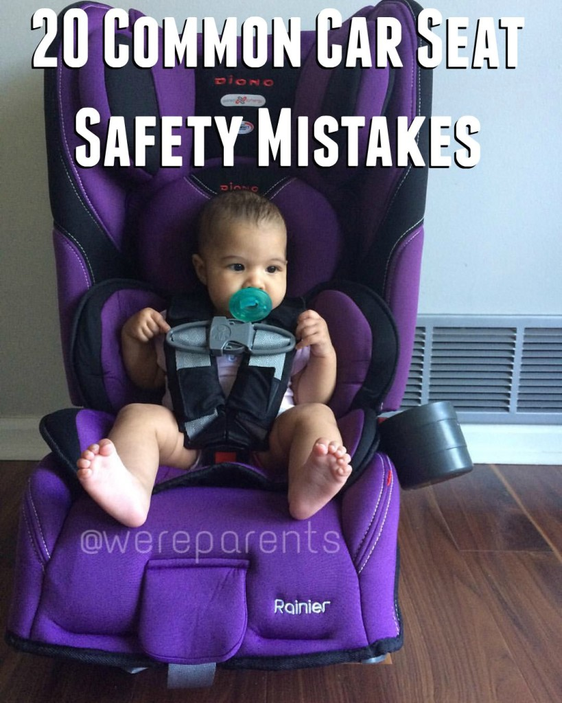 20 common car seat safety mistakes