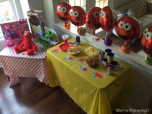 elmo at home party