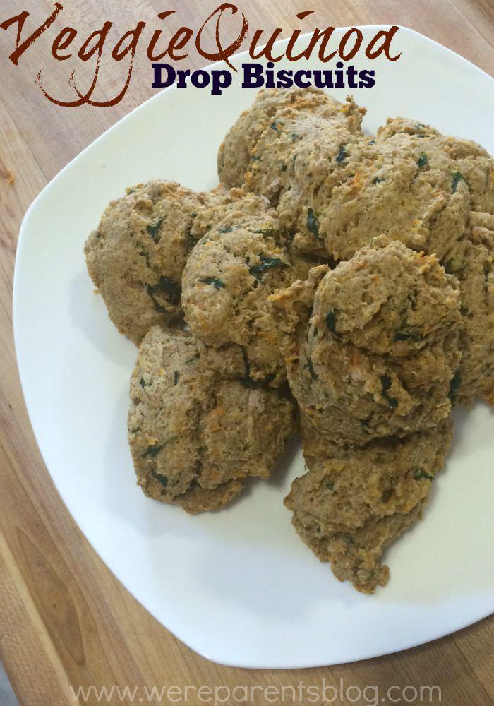 veggie quinoa drop biscuits