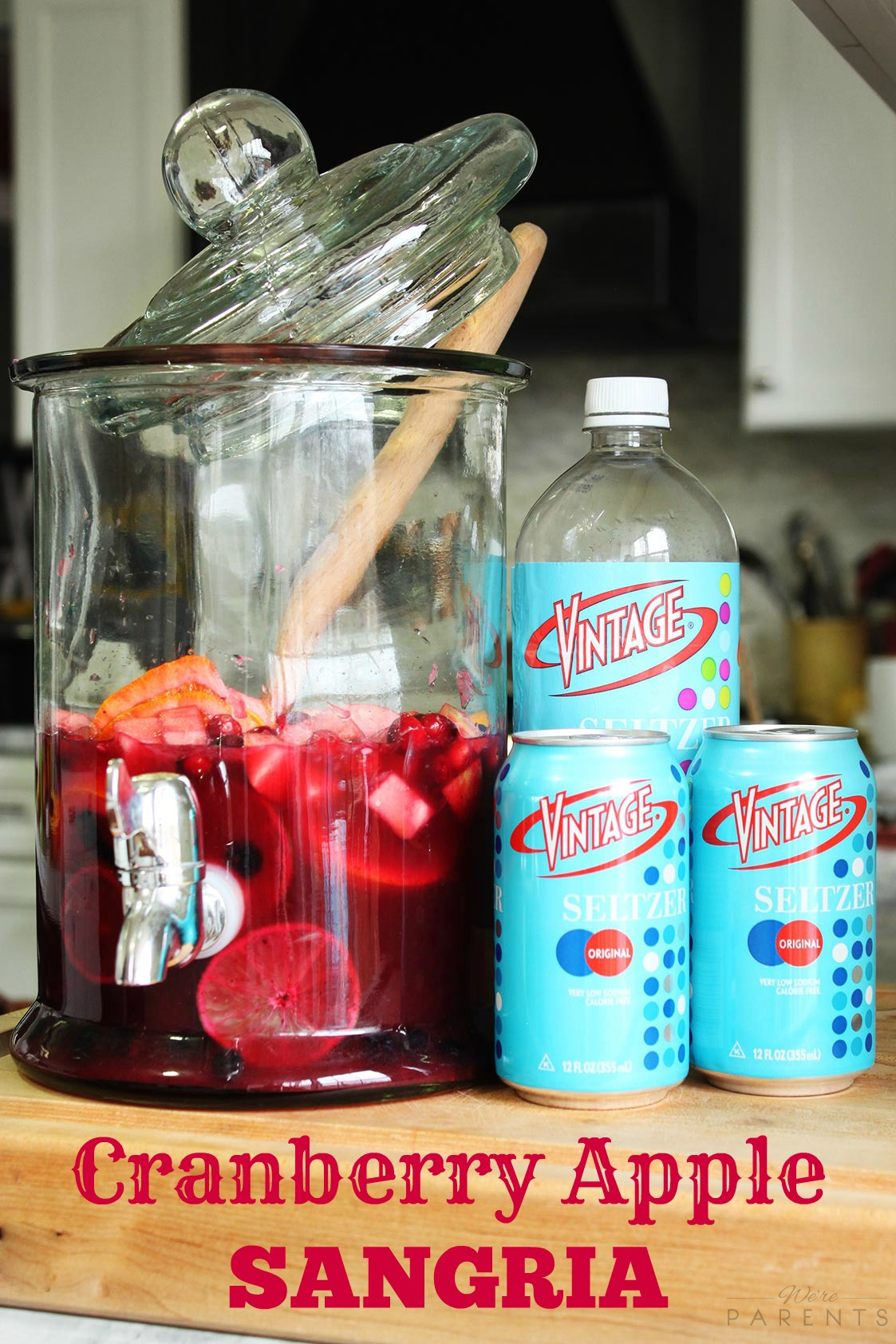 Cranberry Apple Sangria Recipe with Vintage Seltzer
