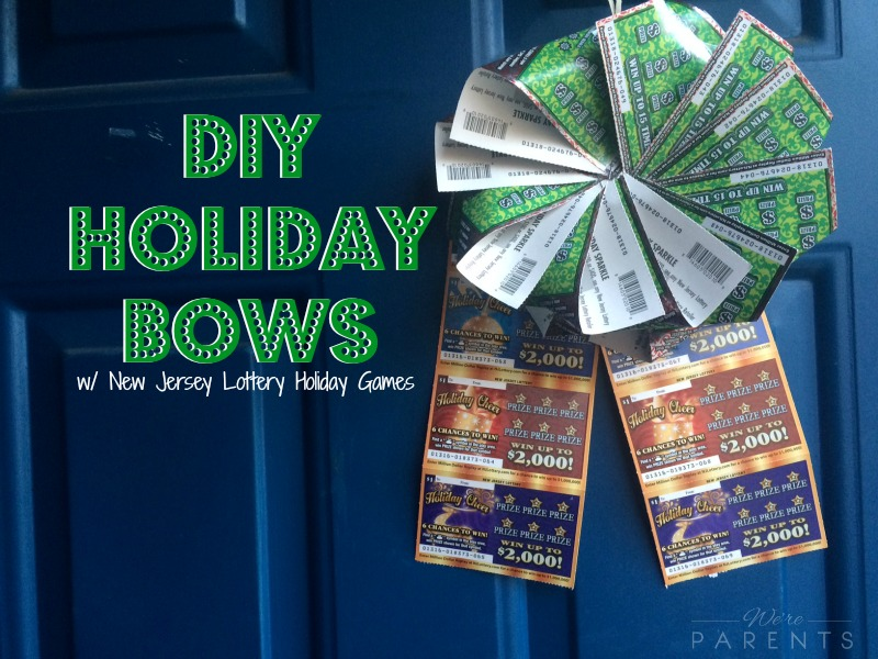 diy holiday bows new jersey lottery