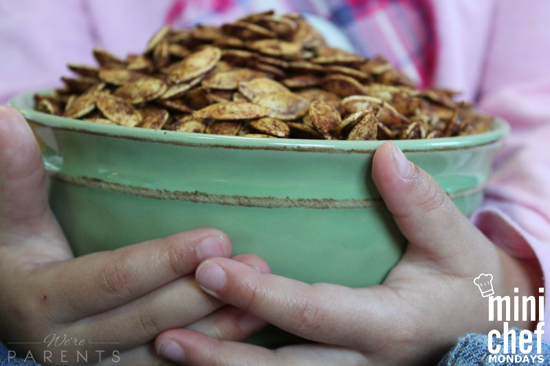 mini chef mondays pumpkin seeds