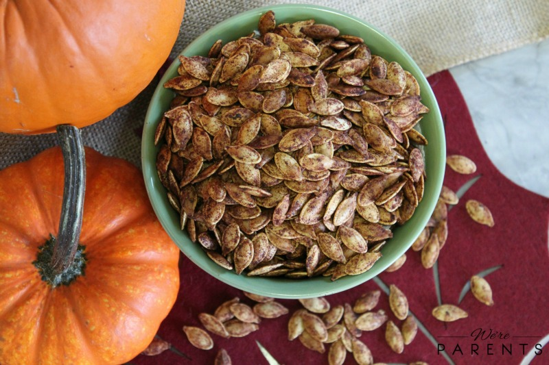 sweetly roasted pumpkin seeds