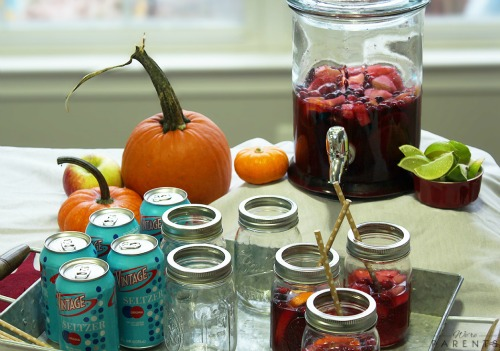 thanksgiving tablescape vintage seltzer