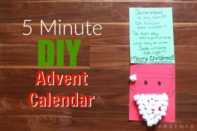 diy 5 minutes advent calendar