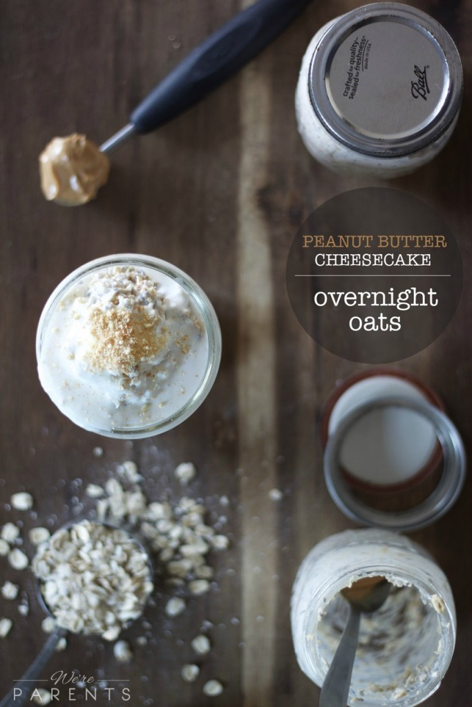 peanut butter cheesecake overnight oats