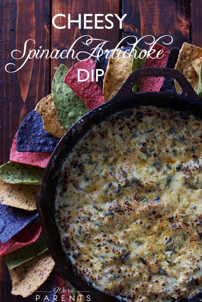 cheesy spinach artichoke dip recipe