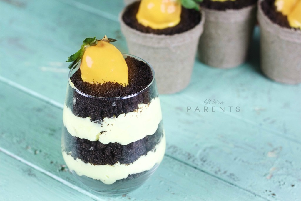 Dirt Cake With Strawberry Carrots