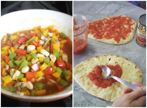 how to make ROTEL spicy veggie pizza