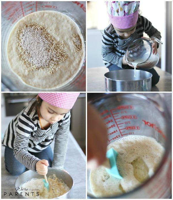 making homemade bread bowls