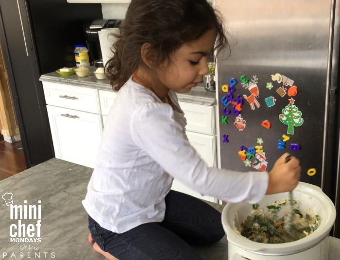mini chef mondays spinach artichoke dip