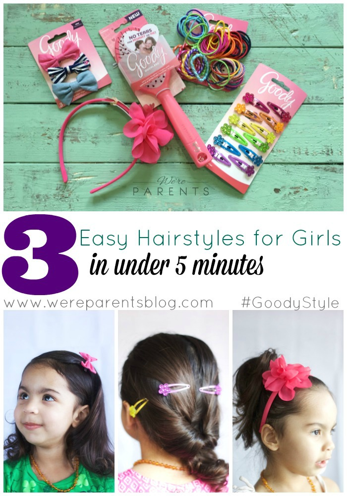 3 easy hairstyles for girls in under 5 minutes