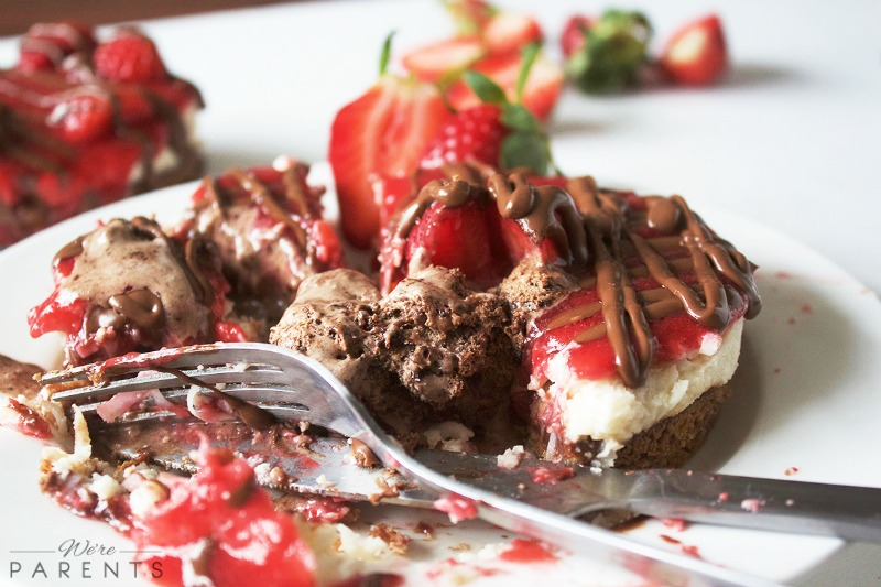 coconut nutella strawberry pie