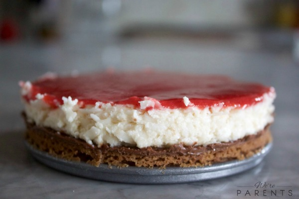 homemade coconut nutella strawberry pie