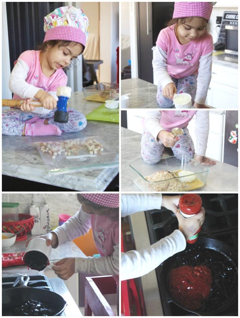 making homemade chicken meatballs