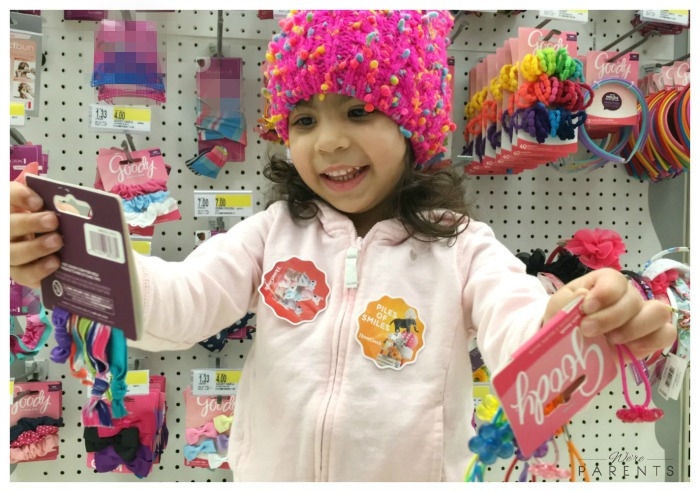 picking out hair accessories