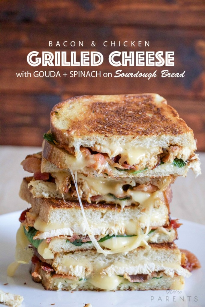 bacon and chicken grilled cheese sandwich recipe