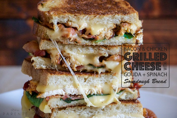 bacon and chicken grilled cheese sandwich