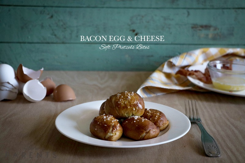 Bacon Egg and Cheese Pretzel Bites