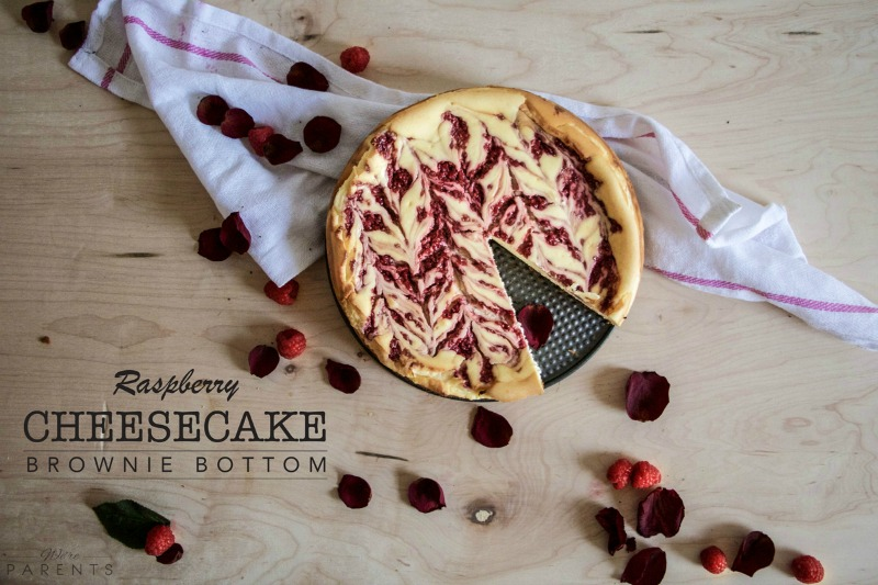 brownie bottom raspberry cheesecake recipe