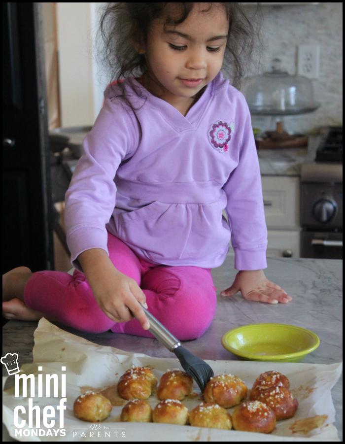 making pretzel bites mini chef mondays