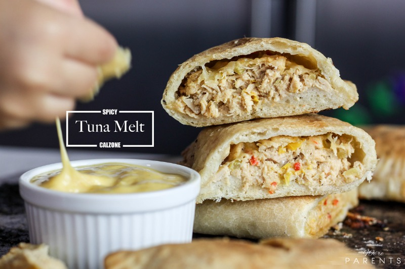 Spicy Tuna Melt Calzone - Were parents!?