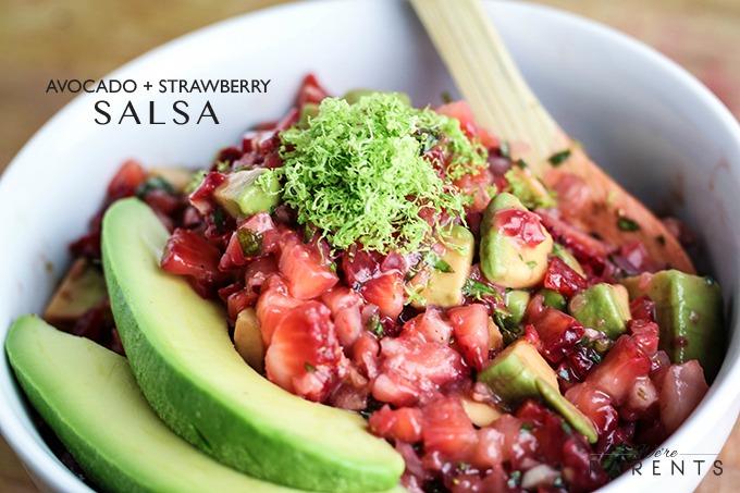 homemade strawberry and avocado salsa recipe