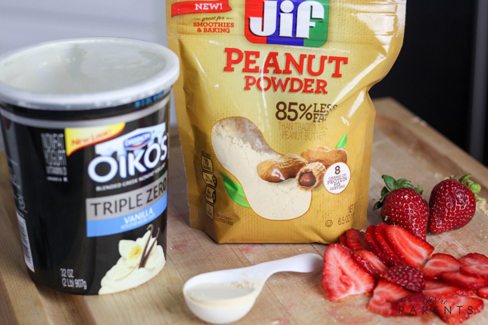 how to make peanut butter and jelly smoothie bowl