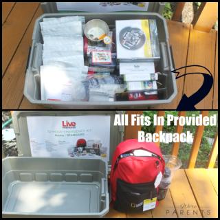 live prepared emergency kit