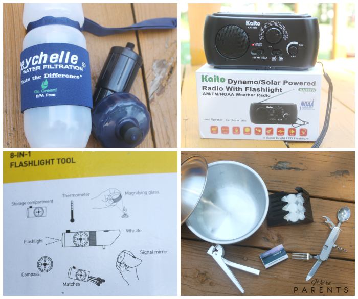 live prepared emergency kit contents