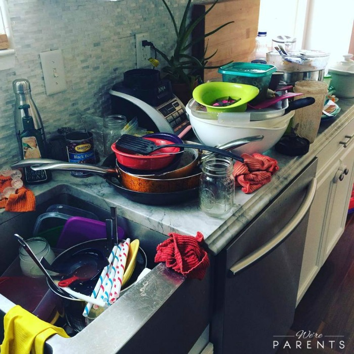 pile of dishes