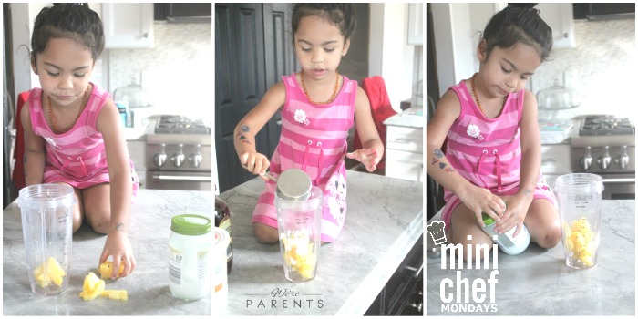 pina colada smoothie mini chef mondays