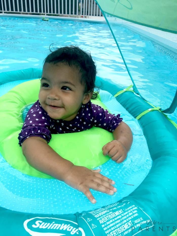 swimways baby swimming