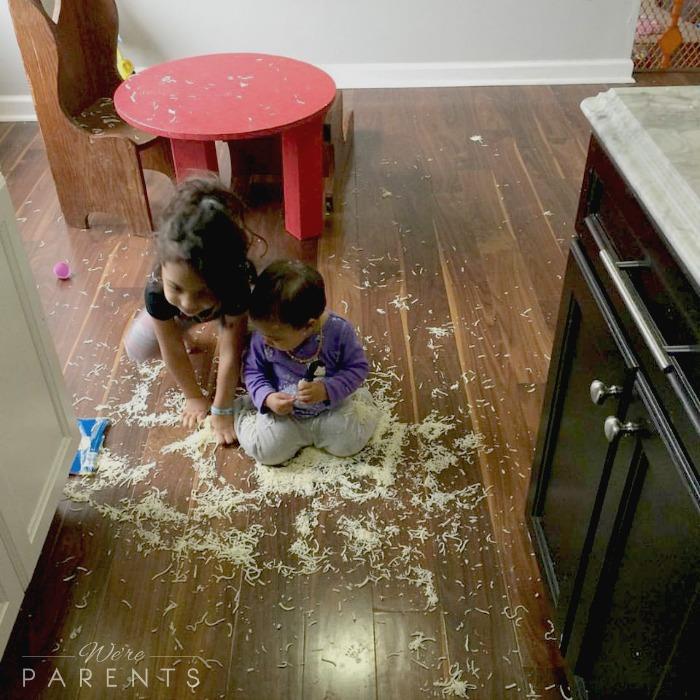 when kids make a mess