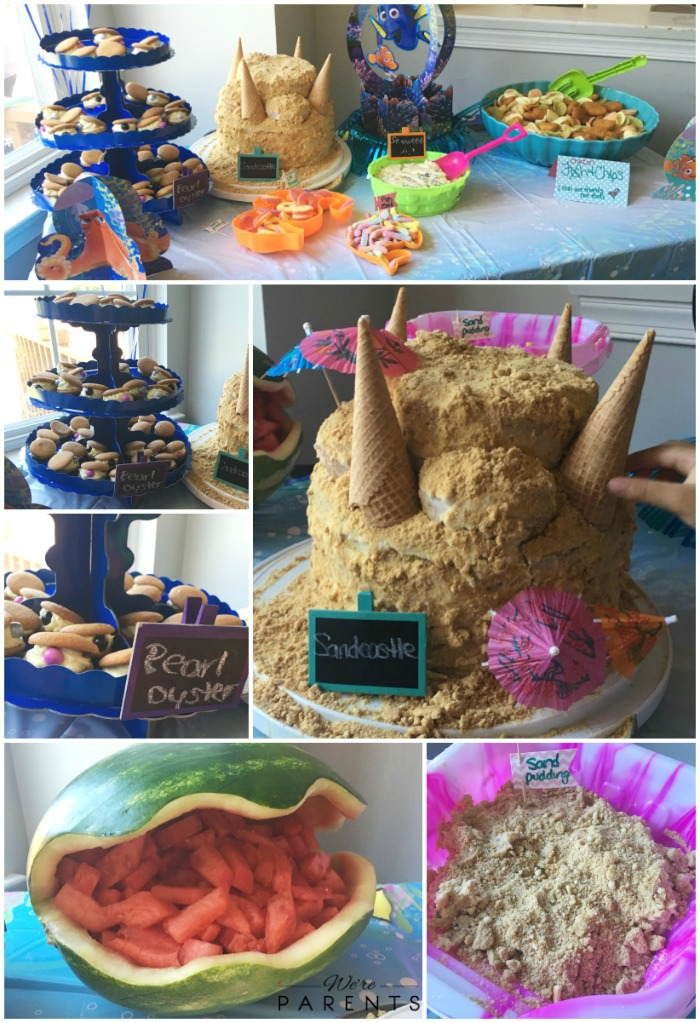 finding dory party cake desserts