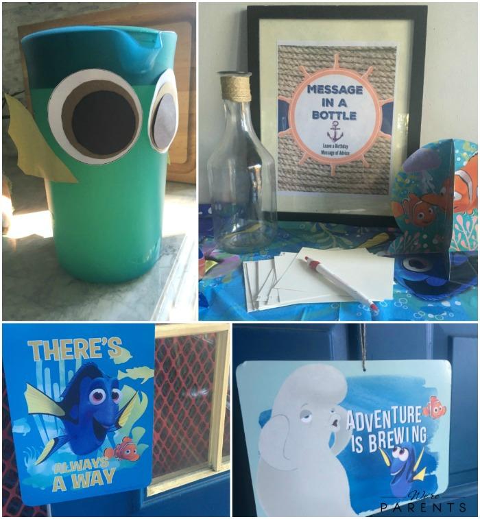 finding dory party set up