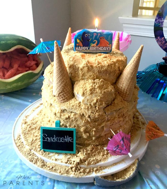 finding dory sandcastle cake