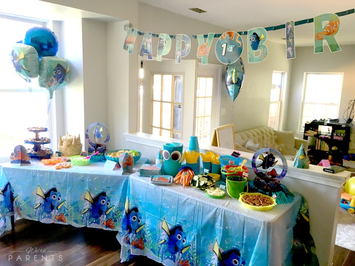finding dory tablescape