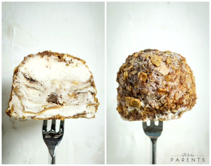 homemade fried ice cream