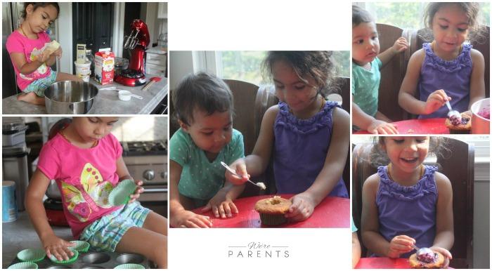 kids making cupcakes